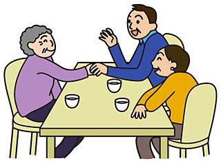 ケア付き高齢者住宅イラスト